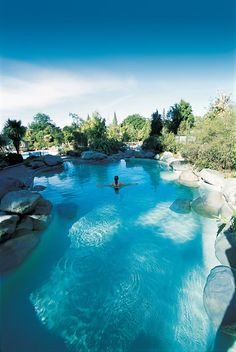 Hanmer Springs NZ...was a very relaxing afternoon when we went..water was just like this..but more people lol...