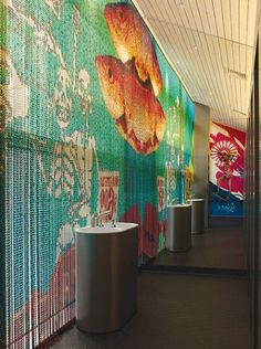 Chain-link curtains by KriskaDecor, Spain. Wahaca, Curtain Inspiration, Beaded Curtains, Curtain Designs, Room Colors, Textures Patterns, Color Pop, Interior Design, Architecture