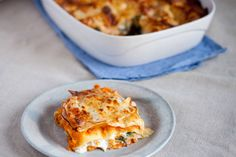 Lazania z dynią, szpinakiem i serkiem kozim II Cooking for Emily Ricotta, Lasagna, Dinner, Cooking, Ethnic Recipes, Eyes, Food, Dining, Kitchen