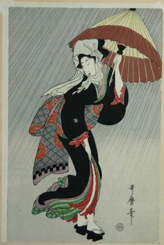 #Utamaro--Woman with ParasolUtamaro produced over two thousand prints during his working career, along with a number of paintings, surimono, as well as many illustrated books, including over thirty shunga books, albums, and related publications. Among his best known works are the series Ten Studies in Female Physiognomy; A Collection of Reigning Beauties; Great Love Themes of Classical Poetry (sometimes called Women in Love containing individual prints such as Revealed Love and Pensive…
