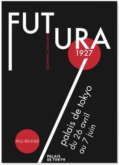 Affiche, édition sur la police de caractère Futura on Behance