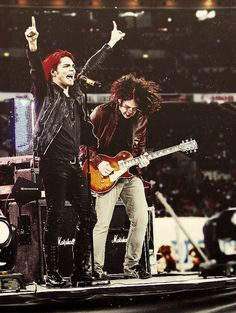 Gerard, Ray Toro - MCR.... the way they put their all into every performance is one of the many reasons I love them so much. MCRmy.