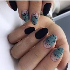 66 Hot Trend Black Almond Nails Design in 2019 - chic better Hot Nails, Swag Nails, Hair And Nails, Black Almond Nails, Almond Nails Designs, Minimalist Nails, Stylish Nails, Creative Nails, Halloween Nails