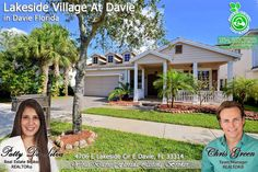 FOR SALE ~ Start your 2018 in this beautiful 4 bed, 3.5 bath waterfront pool home on a split floor plan at Lakeside Village at Davie. For photos & info, visit www.goo.gl/9CZ1BJ  Call Broker Patty at 954-667-7253
