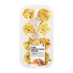Carb Clever™ Mini Crustless Quiche Lorraine 9Pk Crustless Quiche Lorraine, Smoked Bacon, Fresh Herbs, Cheddar Cheese, Deli, Tea Time, Nutrition, Treats, Food
