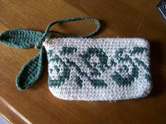 Tapestry Leaves Bag by MindyJedi, improvised from a cross-stitch chart