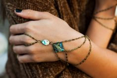 Hey, I found this really awesome Etsy listing at https://www.etsy.com/listing/214762684/venus-abalone-shell-hand-chain-bohemian