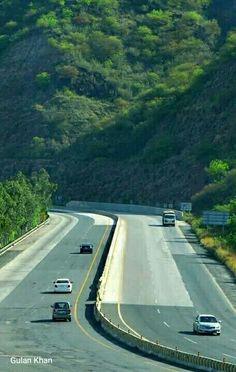 Greenish view of motorway beautiful of Pakistan