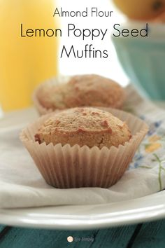Almond Flour Lemon Poppy Seed Muffins & Bob's Red Mill Giveaway   Live Simply  Almond flour is a favourite, but it sure is expensive.