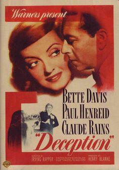 Deception (1946) starring Bette Davis, Paul Henreid. Watched October 2013, TCM.