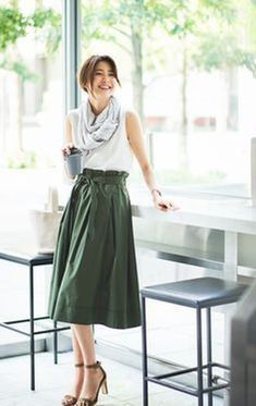 58 Awesome Long Skirt Outfits For Working Women to you try - Uniqlo Outfit, Work Fashion, Modest Fashion, Long Skirt Fashion, Fashion Top, Fashion 2018, Fashion Styles, Fashion Brands, Womens Fashion