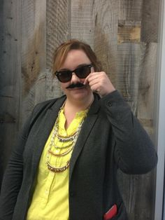 Nice 'stache @angelaliz! #Movember