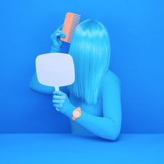 art direction | blue monochromatic - AARK Collective Campaign by Leta Sobierajski