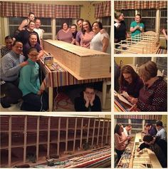 Shared by @kimbytron  Family Worship project:   Took four weeks to build this 9 foot ark with these wonderful people. Lots of research time and patience that helped us to appreciate what Noah and his family must have gone through. We had some friends from our congregation and even some friends from the Arabic group work on it with us. Were all from around Richmond VA
