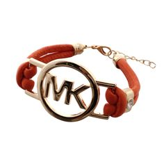 Michael Kors Skinny Logo Chain Orange Accessories Outlet