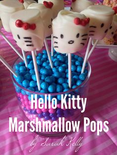 Hello Kitty marshmallow pops