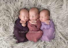 Stephanie Robin Photography - triplet girls!! SO adorable, and LOVE their names.