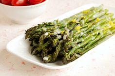 Roasted Asparagus with Lemon Dill Cream Sauce -