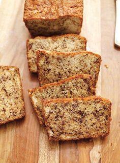Le banana bread, c'est un des cakes que je préfère: il est super bon, il fond dans la bouche, il est hyper healthy, sans sucre ajouté, bourré de potassium (du coup). Idéal pour le matin, ou après le sport. J'adore! * 3 bananes mûres de taille moyenne * 200g de farine de riz * 100g de fécule de pomme de terre * 100g de poudre de noisettes ou d'amandes * une bonne gousse de vanille bio (ou de l'arôme naturel bio) / quantité selon convenance * 1 c à thé de noix d...