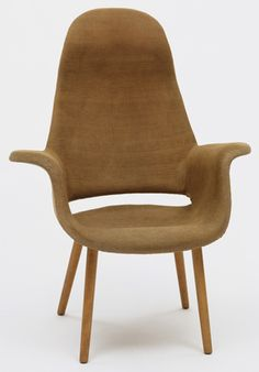 High Back Armchair from the Museum of Modern Art Organic Design Competition, Designed by Charles Eames and Eero Saarinen, Haskelite Corporation and Heywood Wakefield, 1940