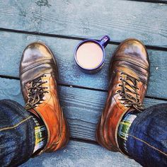 Iron Rangers. Denim. Coffee.