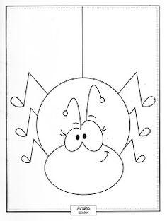 Menta Más Chocolate - RECURSOS y ACTIVIDADES PARA EDUCACIÓN INFANTIL: Libro de ANIMALES para colorear Kawaii Drawings, Easy Drawings, Desenhos Halloween, Coloring Books, Coloring Pages, Front Page Design, Doodle People, Quiet Book Templates, Kids Sleeping Bags