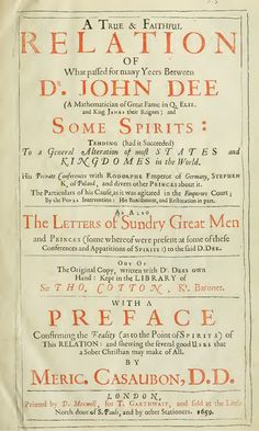 Dr John Dee -  Communications With Spirits - Free Ebook by Chuck Thompson via slideshare