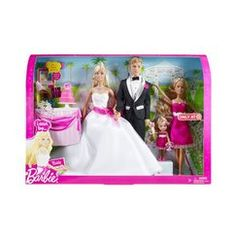 Mattel Barbie I Can Be A Bride Set Overview, Features, and Description. Girls can play out the role of bride and bridal party with Barbie® I Can Be™ Bridal Gift. Barbie Et Ken, Barbie Sets, Barbie Doll House, Barbie Dolls, Ken Doll, Mattel Barbie, Wedding Doll, Barbie Wedding, Wedding Set
