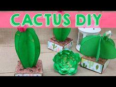 Cactus de papel - Idea de decoración súper fácil - YouTube