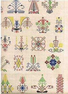 Raksti – A K – Picasa tīmekļa albumi Folk Embroidery, Cross Stitch Embroidery, Cross Stitch Patterns, Knitting Charts, Knitting Patterns, Seed Bead Projects, Diagram Chart, Chart Design, Christmas Cross