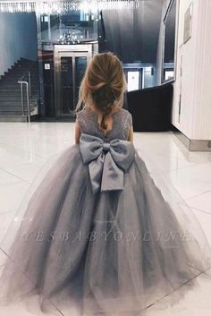 Gzcdress Ball Gowns Flower Girl Dresses for Wedding Tulle Long Toddler Pageant Dress Floor Length Boho Flower Girl, Princess Flower Girl Dresses, Cheap Flower Girl Dresses, Lace Flower Girls, Toddler Pageant Dresses, Girls Short Dresses, Tulle Flowers, Tulle Lace, Joko
