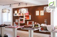 Bauchgefuhl store Kirchdorf Austria - Home Decor Wall Fixtures, Light Fixtures, Sale Signage, Maternity Stores, Retail Store Design, Boutique Design, Kids Store, Cool Walls, Interior Design