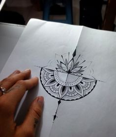 Half mandala tattoo design by @yuliatropical #tattoo #mandalatattoo