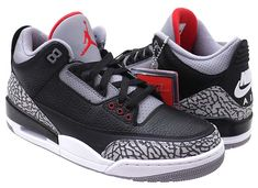 NIKE AIR JORDAN 3 RETRO OG [BLACK / FIRE RED-CEMENT GREY] 854262-001