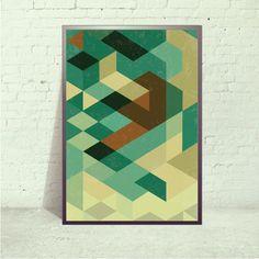 Mid century poster, 13x19, Retro poster, retro art print, Geometric Poster, Abstract Prints Posters, Geometric Art Print,. $35.00, via Etsy.