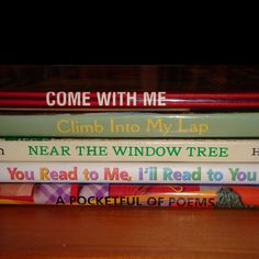 Book spine poetry - SO COOL! The book titles make a poem!!!!