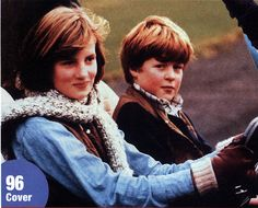 Diana & her brother, Charles in the blue beach buggy given to Charles as a Christmas present
