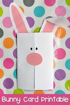 FREE printable Easter bunny card and Easter writing paper.  Great Easter writing activities for kindergarten, first, and second grade! #eastercrafts #easterbunny #kidsactivities #kidscraft #writingprompt
