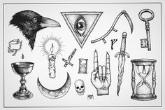 Tattoo Flash Sheet — Jeremy Hannigan