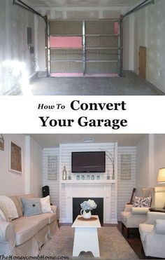 Best way I\'ve seen to convert a garage to living space. | makeover ...