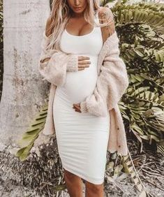 Must Have Solid Color Maternity Casual Bodycon Dress – chastett Casual Maternity Outfits, Maternity Dresses For Baby Shower, Mom Outfits, Winter Maternity Clothes, Fall Maternity Fashion, Baby Shower Dress Winter, Fall Pregnancy Outfits, Maternity Sweater Dress, Bebe
