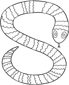 striped snake coloring sheet - S Colouring Pages