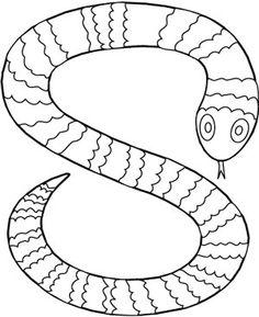 S de serpiente coloring page