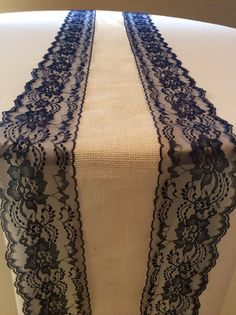 6ft Burlap Table Runner Wedding Table Runner with Navy Blue Lace, 13in  Wide x 80 in Long, Nautical Wedding Decor on Etsy, $15.86 AUD