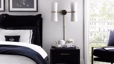 A smart bedside table is the second most important bedroom essential make yours a good one Click the link in our bio to shop this look and our wide range of bedside tables. #luxdeco #homedecor #interiordesign #luxuryinteriors #bedsidetable #bedroomdecor #bedroominspiration #luxuryinspo #interiorinspiration #luxury #bedroom #monochrome #styling