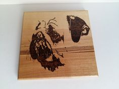 Abstract Pug pyrography photo for wall house by WoodBurningStudio
