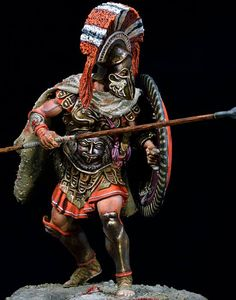Series : Ancient world (Greek Civilizations ). Quality of painting: Museum quality. Greco Persian Wars, Greek Warrior, Spartan Warrior, Toy Soldiers, Ancient Greece, Ancient History, Romans, Character Design, Museum