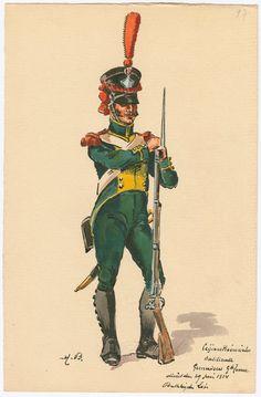 """Naples ;Granatiere legione """"Basilicata"""", 1814"""