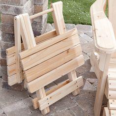 Coral Coast Adirondack Table - Unfinished - Adirondack Furniture at Adirondack Chairs