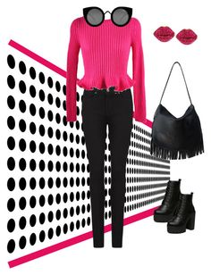 """""""cute pink point """" by hiyomi on Polyvore featuring ファッション, Paige Denim, Chicnova Fashion, Quay と c.A.K.e. by Ali Khan"""